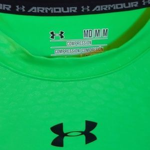 Bright green Under Armour shirt